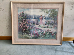 Beautiful vintage print with frame