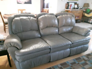 Genuine leather recliner couch REDUCED