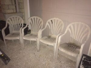 Set of four outdoor chairs