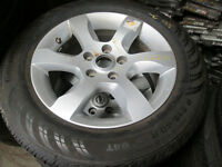"""16"""" NISSAN RIMS AND TIRES 215/60/16 5X114 16X7 +45"""
