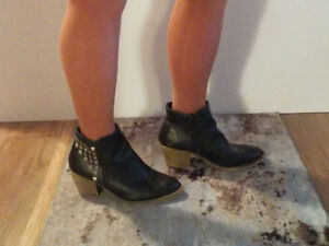 Size 10  -  some booties, some shoes  Black