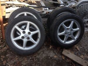 195/55/R16 SUMMER TIRES AND RIMS