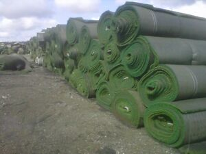 Artificial grass rolls.  Used