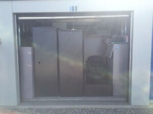 Storage locker full of office furniture