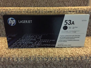 New! HP Laserjet black 53A print cartridge Q7553A Reduced!! Kitchener / Waterloo Kitchener Area image 1