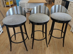 Luxury swivel top bar stools