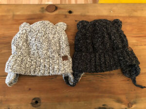 Roots Toques with ears and Velcro closure