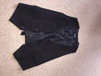 Men's black waist jacket