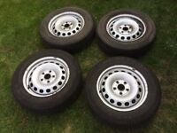 Vw caddy steel wheels x4 5x112