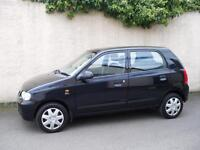 SUZUKI ALTO 1.1 GL 5 DOOR BLACK MOT ONE FULL YEAR £30 ROAD TAX