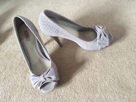 Next grey high heels size 6.5