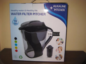 New Alkaline Ionized Portable Water Filter Pitchers /Jugs