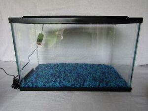 5.5 g fish aquarium and accessories