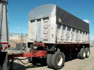 converter dolly + 22' chassis trailer + aluminum dump trailers