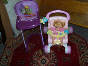 Doll Stroller and Highchair