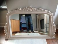 Mirror. Marble / for over fire surround