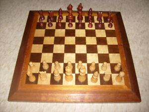 "Wood Chess Set. 16 1/4x16 1/4 Board. 3"" King."