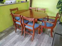 Extendable Dining Table & Set Of 6 Chairs - Can Deliver For £19