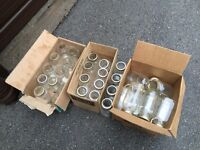 MASON JARS ASSORTED SIZES AND MANUFACTURERS
