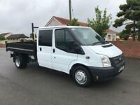 2014 64 FORD TRANSIT 100 T350 DOUBLE CAB 10FT TIPPER 1 CO OWNER FSH DIESEL