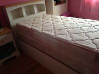 2 single beds with head board and foot board with matresses