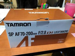 Objectif Tamron AS 70-200 f2.8 pour Nikon incluant filtre