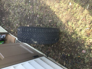 215/60R16 Good Year Ultra Grip Winter Tires on Toyota Rims