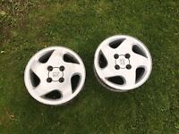 2 Peugeot 306 alloys. 4x108. Dturbo. Cheap 14inch