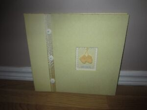 "YELLOW ""SWEET LITTLE ONE"" SCRAPBOOK - NEW!"