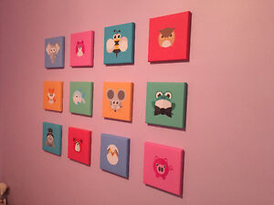 "Children's canvas prints 8""X8"" ready to hang"