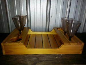 Handcrafted Wine Tray