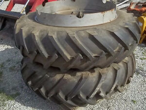 """Several sets of 38"""" """"T"""" Rail Tractor Duals."""