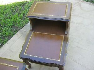 WALNUT TWO TIER END TABLES --FRENCH PROVINCIAL DESIGN Peterborough Peterborough Area image 2