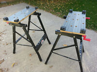 2 Saw Horses/Folding work tables