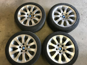 "BMW OEM 17"" Wheel alloy rims and tires 5x120 72.6 mm centre bore"