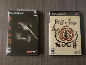 Kuon and Rule of Rose for PS2