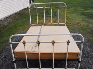 Double Wrought Iron Bed\ Vanity Style Dresser each $175.00