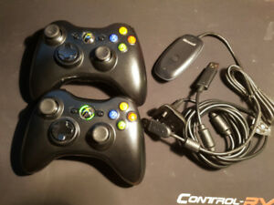 2 Official Microsoft Xbox 360 Controllers