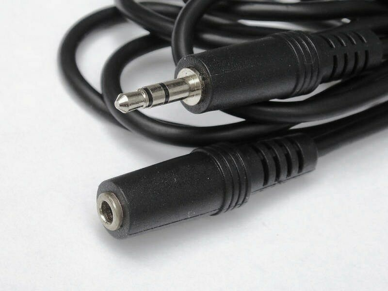 """25FT 3.5mm 1/8""""AUDIO COMPUTER SPEAKER EXTENSION CABLE"""