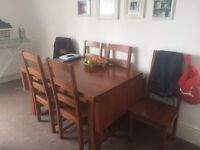 Solid Oak 6 Seat Dining Table
