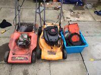 Tecumseh flymo Meculloh lawn mower spares or repairs