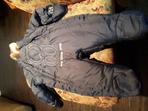 Like new okaidi infants boys snow suit size: 3 - 6 months