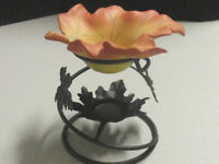 "RETIRED PARTYLITE ""Whispering Leaves"" Aroma Melt Candle Holder"