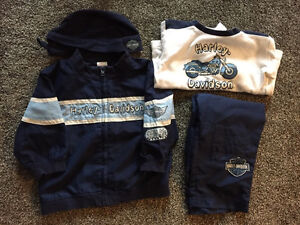 MINT CONDITION - 18 Month Boy - Harley Davidson Outfit, Hoodies,