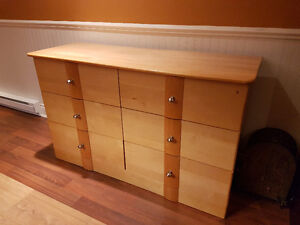 Solid Maple 5 Drawer Dresser and 6 Drawer Bureau