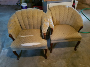 Very beautiful  antique comfortable chairs to be re upholstered.