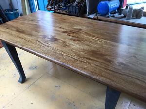 Acacia Wood Dining Room Table