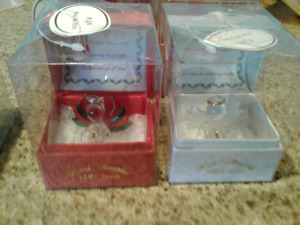 Brand Baby's First Christmas Keepsake New Glass Ornaments