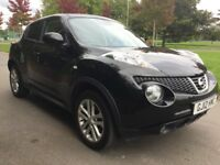 Nissan Juke 1.6 ACENTA CVT Good / Bad Credit Car Finance (black) 2012
