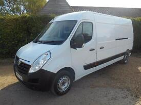 2013 63 VAUXHALL MOVANO 2.3CDTI 6SPEED L3H2 LWB 63000 MILES 1 OWNER IMMACULATE